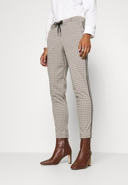 TOM TAILOR - CHECKED PANTS - Stoffhose - camel