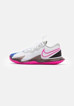 Nike Performance - AIR ZOOM VAPOR CAGE 4 - Zapatillas de tenis para todas las superficies - white/laser fuchsia/sapphire/hot lime