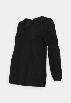 Pieces Maternity - PCMGERALDINE SLEEVE  - Blusa - black