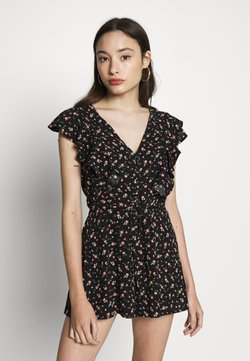 Miss Selfridge Petite - FRILL DETAIL PLAYSUIT - Combinaison - multi