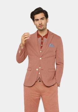 WE Fashion - WE FASHION HERREN-SKINNY-FIT-SAKKO MIT MUSTER - Blazer - rust brown