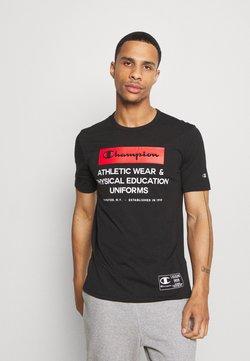 Champion - LEGACY TRAINING CREWNECK - T-shirt imprimé - black