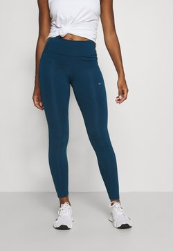 Nike Performance - ONE COLORBLOCK - Tights - valerian blue/black/cool grey