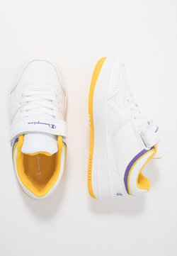 Champion - LOW CUT SHOE NEW REBOUND UNISEX - Zapatillas de baloncesto - white/yellow