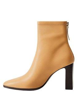 Mango - PUNTO - High heeled ankle boots - marrón medio