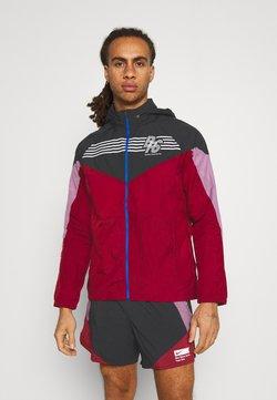 Nike Performance - WINDRUNNER BLUE RIBBON SPORTS - Chaqueta de deporte - black/team red/violet dust/reflective silver