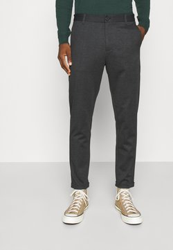Lindbergh - HERRINGBONE PANTS - Chinot - black