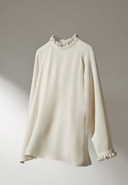 Massimo Dutti - MIT VOLANTS  - Blouse - white
