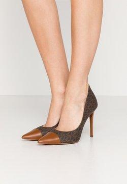 MICHAEL Michael Kors - KEKE TOE CAP - Zapatos altos - brown/luggage