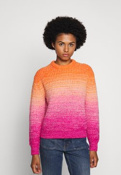 Polo Ralph Lauren - OMBRE LONG SLEEVE - Sweter - pink/orange multi