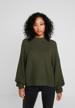 Monki - GITTY  - Strickpullover - khaki