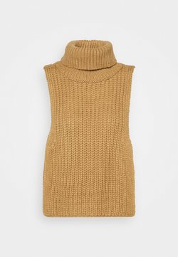 Who What Wear - TURTLENECK DICKIE - Sweter - beige