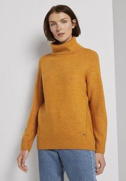TOM TAILOR DENIM - Strickpullover - orange yellow melange