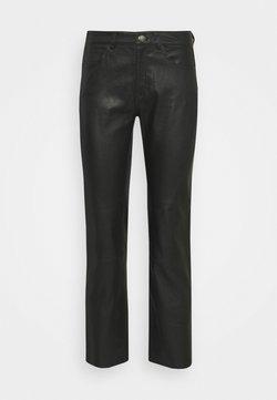 Samsøe Samsøe - ALANA TROUSERS - Pantalon en cuir - black