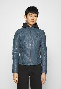 Gipsy - CACEY - Leren jas - denim blue