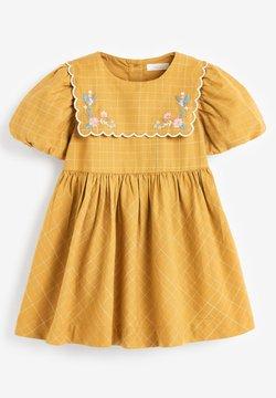 Next - EMBROIDERED - Vestido informal - ochre