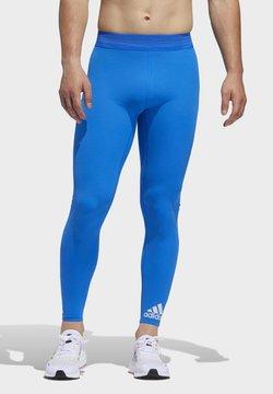 adidas Performance - TECH HEAT.RDY ZIGZAG LONG TIGHTS - Collants - blue