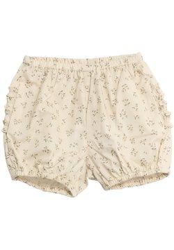 Wheat - Shorts - eggshell flowers