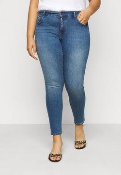 ONLY Carmakoma - CARWILMA LIFE REGULAR - Jeans Skinny Fit - medium blue denim