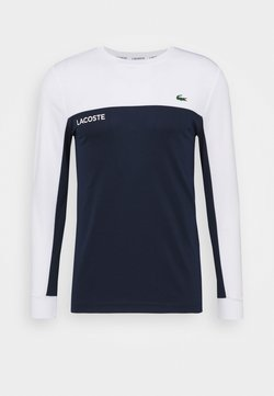 Lacoste Sport - TENNIS BLOCK - Funktionsshirt - white/navy blue