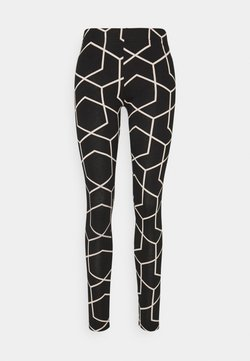 Noisy May - NMANILLA - Legging - black/with chateau gray graphic