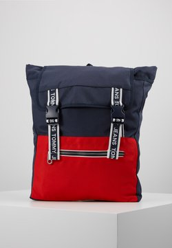 Tommy Jeans - LOGO TAPE BACKPACK - Reppu - blue