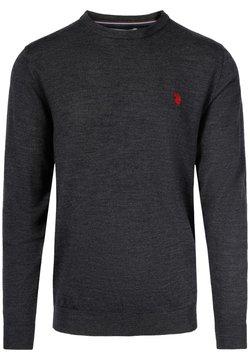 U.S. Polo Assn. - ARELI KNIT MERINO WOOL  - Sweatshirt - darkgreymel
