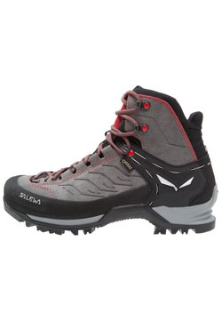 Salewa - MTN TRAINER MID GTX - Mountain shoes - charcoal/papavero