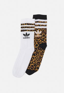 adidas Originals - SOCK UNISEX 2 PACK - Socken - white/brown