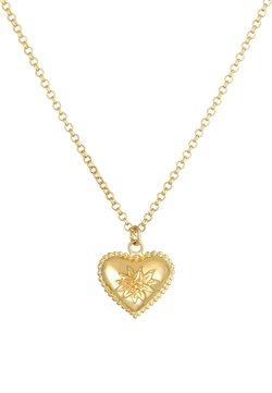 Elli - HERZ EDELWEISS WIESN DIRNDL LOOK - Halskette - gold