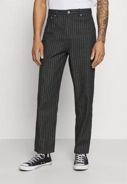 Vintage Supply - PIN STRIPE TROUSERS - Trousers - black/white