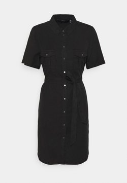 Vero Moda - VMSILJA SHORT SHIRT DRESS - Spijkerjurk - black