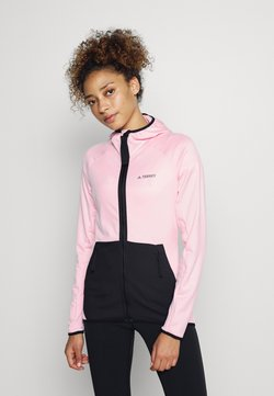 adidas Performance - TERREX TECH FLOOCE LIGHT HOODED - Fleecejacke - clear pink/black