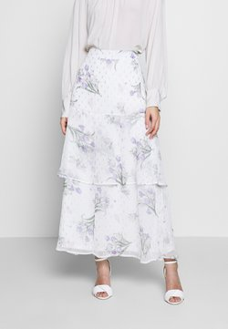 Dorothy Perkins - FLORAL PRINT TIERED MAXI SKIRT - Maxi skirt - ivory
