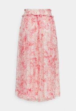 Needle & Thread - TOILE DE JOUY DELPHINE SMOCKED SKIRT - A-line skirt - rosebud/champagne