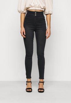 Missguided Petite - DOUBLE BUTTON SCULPT VICE - Jeans Skinny Fit - black