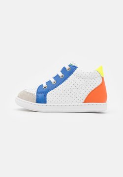 Shoo Pom - BOUBA ZIP BOX - Lauflernschuh - white/blue/orange