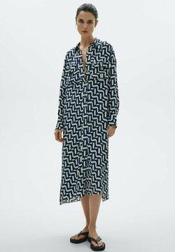 Massimo Dutti - MIT GEOMETRISCHEM PRINT - Sukienka koszulowa - blue