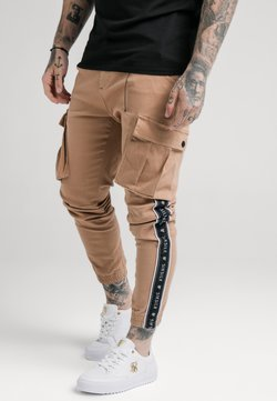 SIKSILK - FITTED TAPED CUFF CARGO - Cargohose - tan