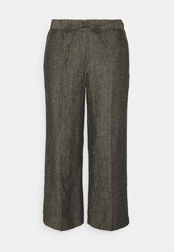 Opus - MARITTA - Trousers - black oliv