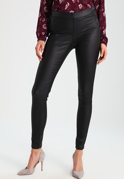 Kaffe - ADA COATED - Leggings - Hosen - black deep