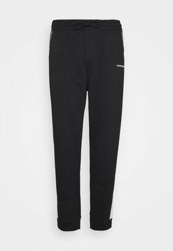 Calvin Klein - LOGO STRIPE - Træningsbukser - colorblock bright white/black