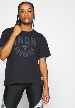 Under Armour - PROJECT ROCK GRAPHIC - T-Shirt print - black