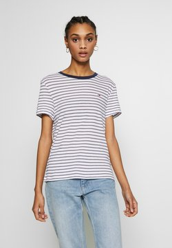 Tommy Jeans - ESSENTIAL STRIPE TEE - T-Shirt print - classic white / multi