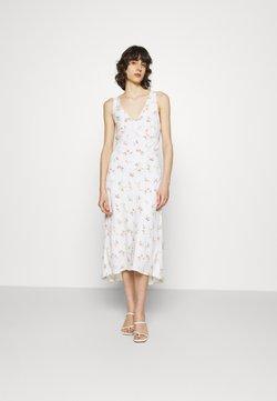 Abercrombie & Fitch - VNECK MIDI SLIP DRESS - Freizeitkleid - white