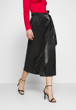 YAS - YASKIMA HW LONG SKIRT FT - Jupe portefeuille - black