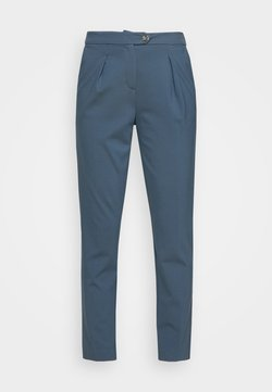mine to five TOM TAILOR - PLEATED PANTS - Stoffhose - stormy sea blue