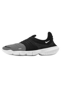 Nike Performance - FREE RN FLYKNIT 3.0 - Laufschuh Natural running - black/volt/white