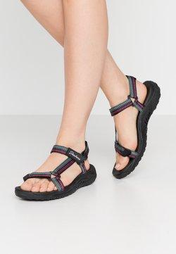 Skechers - REGGAE - Sandalias de senderismo - black/teal/pink