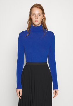 Benetton - TURTLE NECK - Strikkegenser - blue